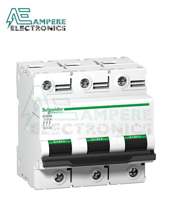 A9N18367 – C120N – Circuit Breaker – 3P – 100A – C curve, Schneider Electric