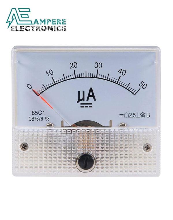 0-50uA Analog Ammeter Panel Meter