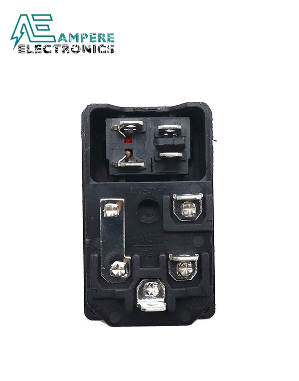 Panel Mount AC Power Connector With On/Off Switch and Fuse Compartment | A