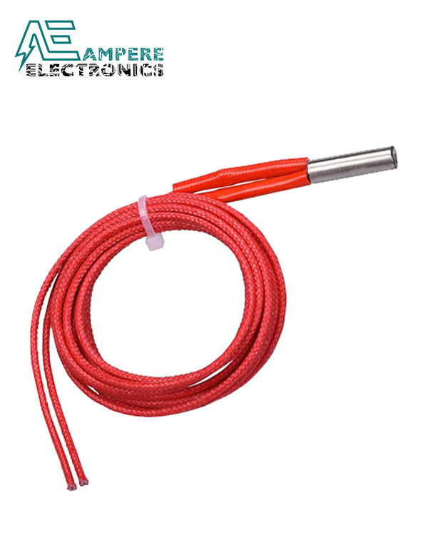 Ceramic Cartridge Heater 24V 40W – 6x20mm 1M length Cable For 3D Printer