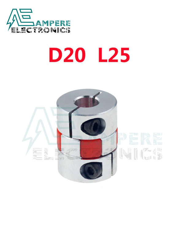 8x10mm XB Aluminium Flexible Shaft Coupler D20L25