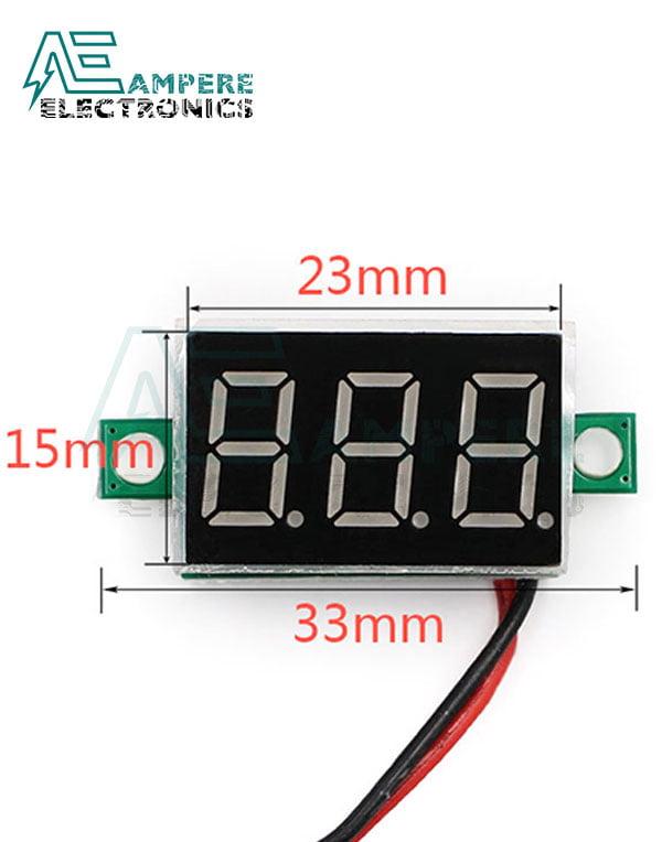 3Digit 0.36″ LED Digital DC Voltmeter DSN-DVM-368