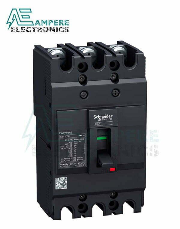 EZC100N3100 Circuit breaker Easypact EZC100N – TMD – 100 A – 3 poles, Schneider Electric