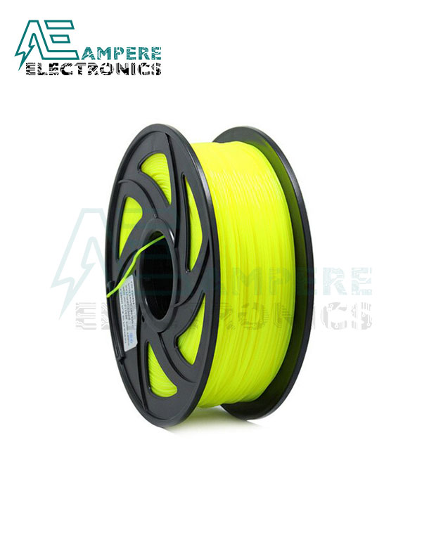 Fluo Yellow Color PLA Filament 1.75mm – 1kg/Roll