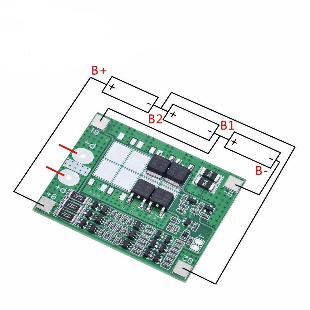 BMS 3S 15A 3 String lithium battery protection board 11.1V 18650