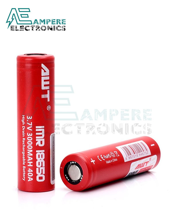 IMR 18650 AWT Rechargeable Li-ion Battery (3.7V , 3000mAh) – Clone
