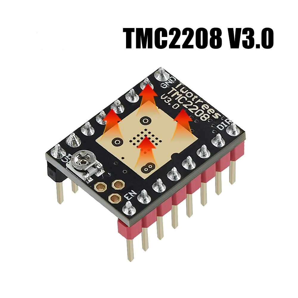 TMC2208 V3.0 Stepper Motor Driver Module with Heat Sink for 3D Printer