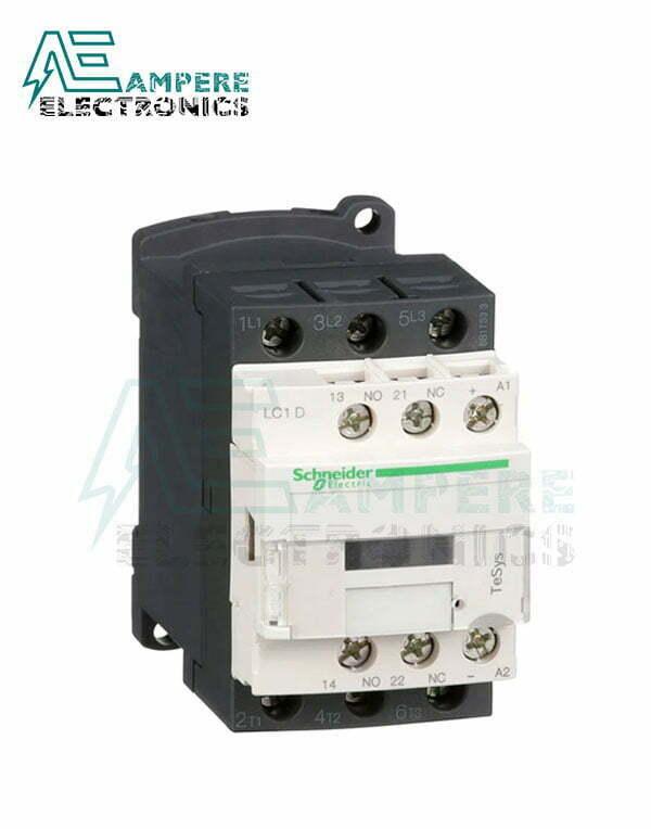 LC1D09BD – TeSys D contactor – 3P(3 NO) – AC-3 – 440V 9A – 24 V DC coil, Schneider Electric