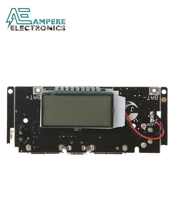 LCD Dual USB 5V 1A 2.1A Mobile Power Bank Module
