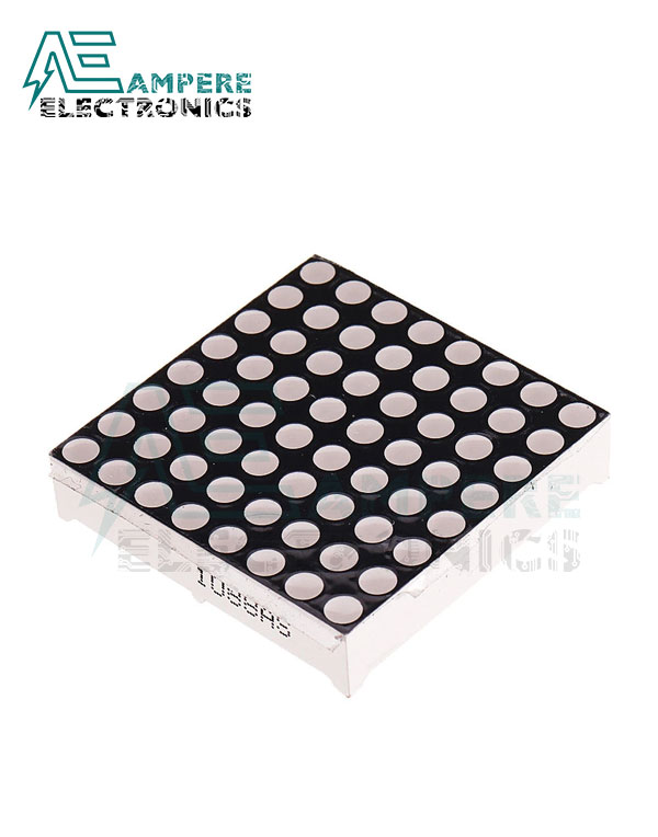 8×8 Red LED Matrix, 60x60mm