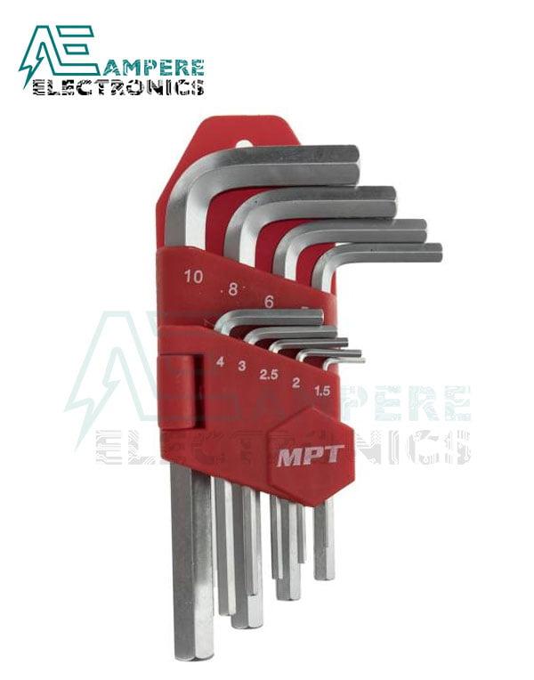 MPT – Hex Key Set 9PCS MHA02001-1
