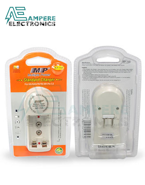 AA, AAA and 9V Battery Charger 2 Cells