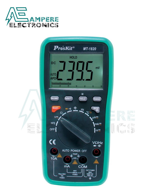 MT-1820 Digital Multimeter | Pro'sKit