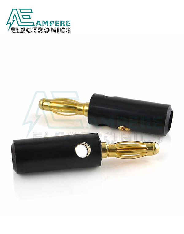 Male Banana Plug (4 mm) , Black Color