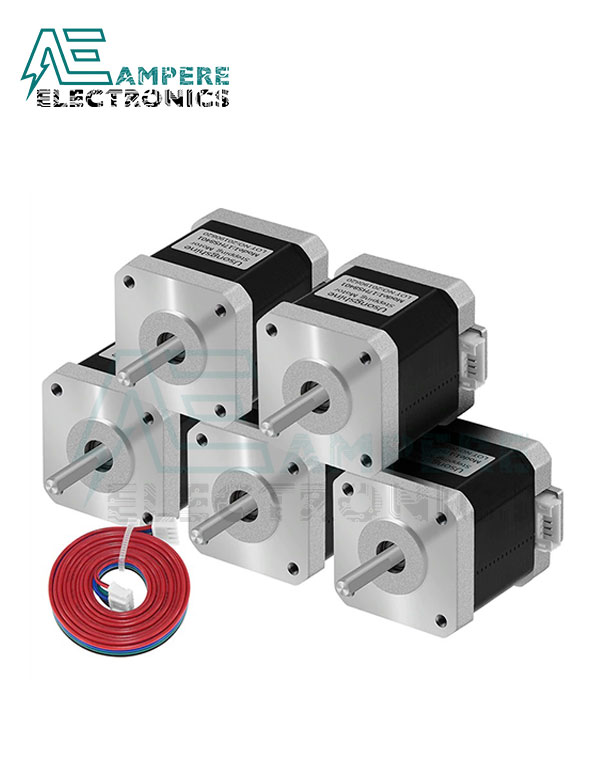 5Pcs Nema 17 Stepper Motor 17HS8401S – 48mm For 3D Printer With Cable