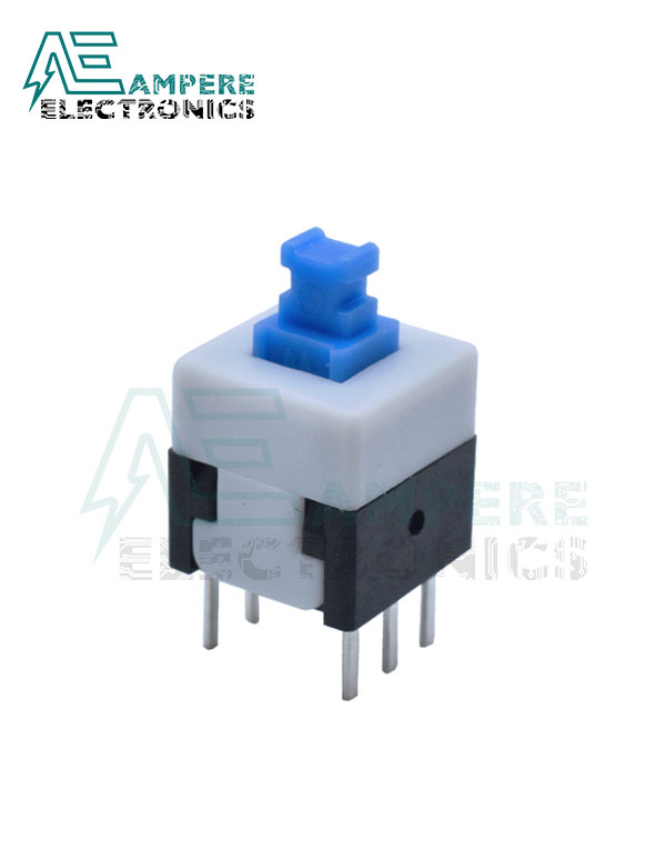 On/Off Switch PCB 6pin 8×8 Blue ON/OFF Button