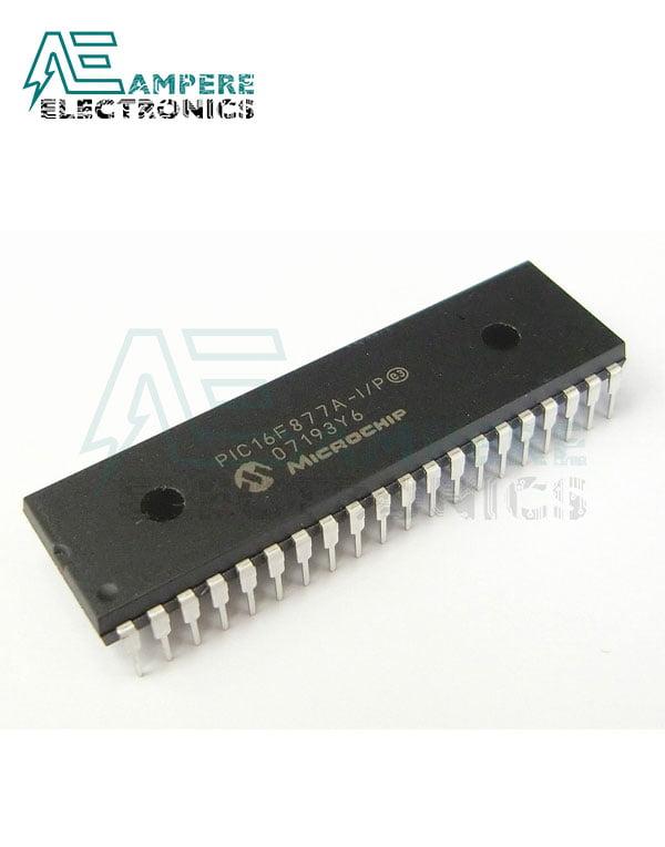 PIC16F877A-I/P Enhanced Flash MCU,8-Bit, 40-Pin DIP