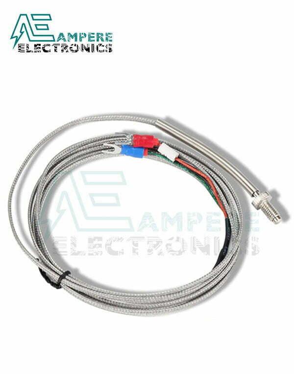 PT100 Temperature Sensor Thermocouple, K Type, 2 Wire