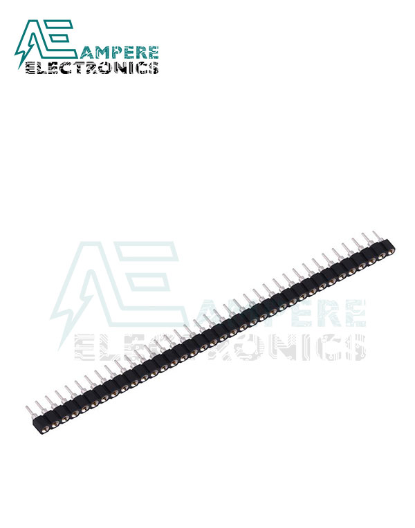 Pin Header Round Female (2.54mm) 1X40 Straight