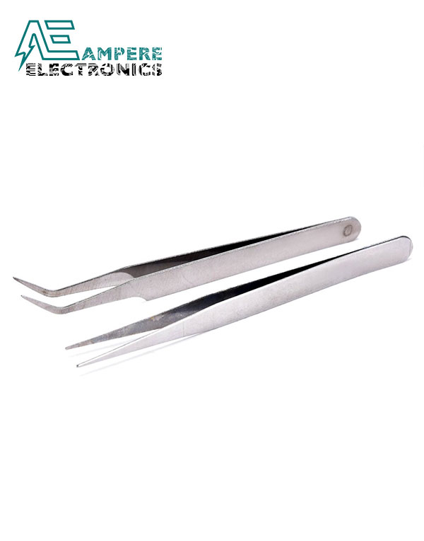 Precision Stainless Steel Tweezers Angled