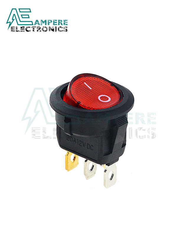 ROUND Rocker Switch ON-OFF With Lamp (6A,250VAC)