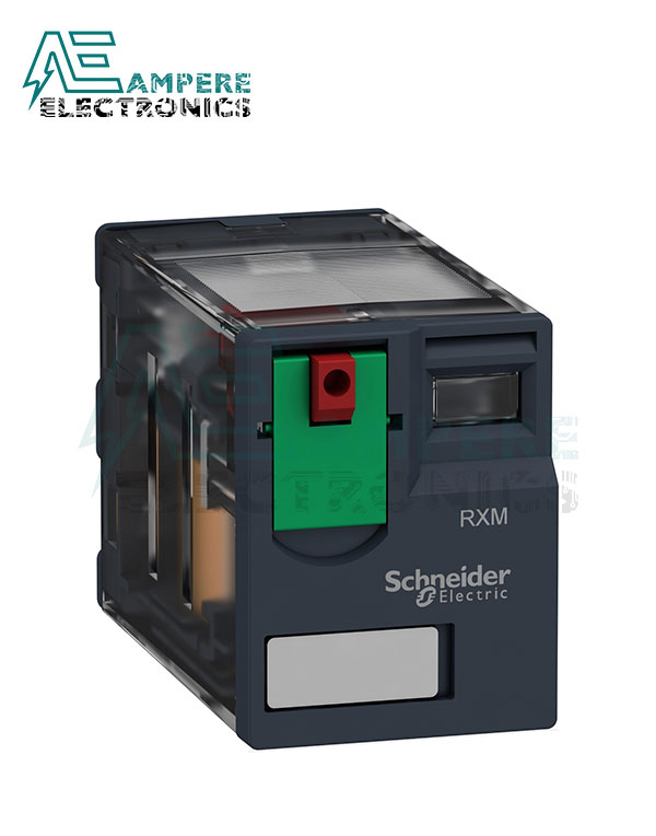 RXM4AB1BD – Miniature plug-in relay, 6 A, 4 CO, 24 V DC, Schneider Electric