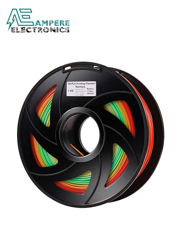 Rainbow Color PLA Filament 1.75mm – 1kg/Roll