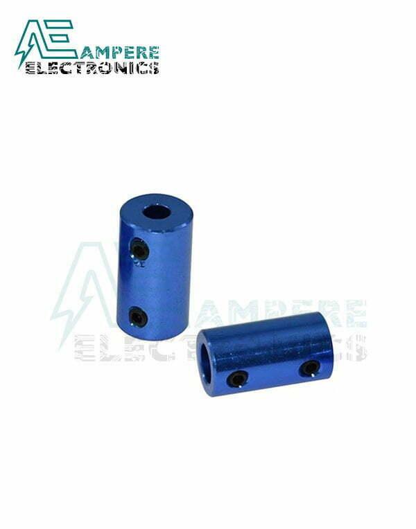6.35×6.35mm Aluminium Rigid Coupling | Anodised Blue