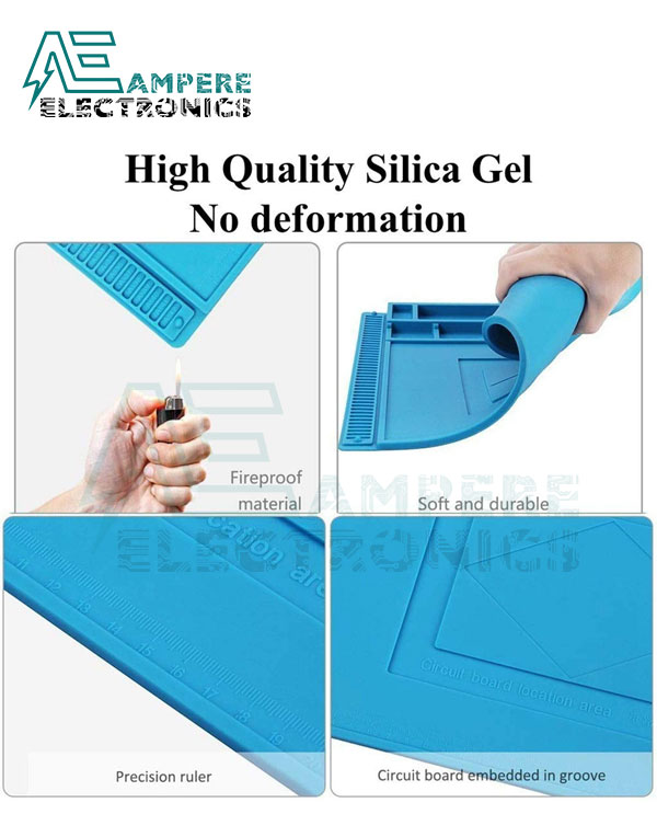 Magnetic Heat Insulation Silicone Pad 450x300mm