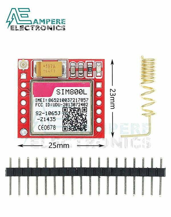 Smallest SIM800L, GPRS, GSM, Micro SIM Card Module