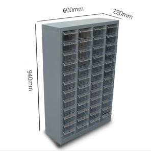 Small Parts Drawer Cabinet – Metal Fram With 48 Clear Plastic Drawers