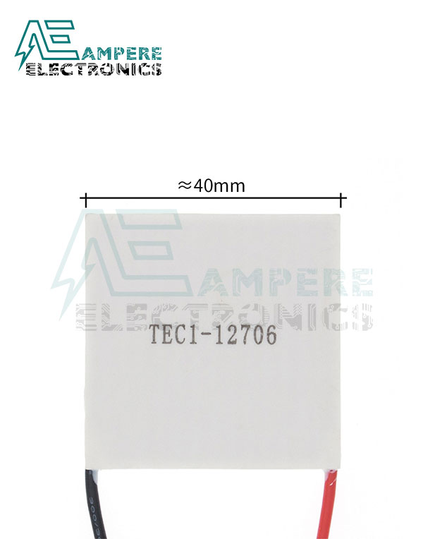 TEC1-12706 Thermoelectric Cooler – 40x40mm