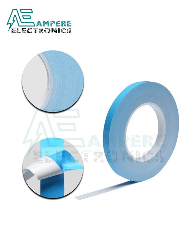 12mm Blue Thermal Double-Sided Tape – 25 Meter