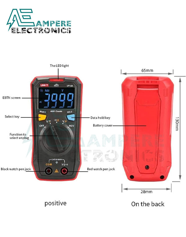 UT123 Pocket-sized Residential Multimeter | UNI-T