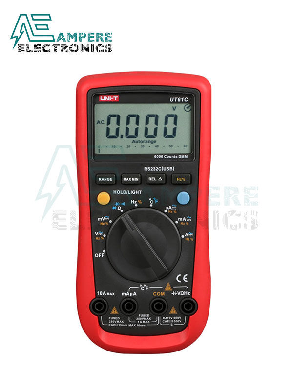 UT61A Auto-ranging AC/DC Digital Multimeter | UNI-T