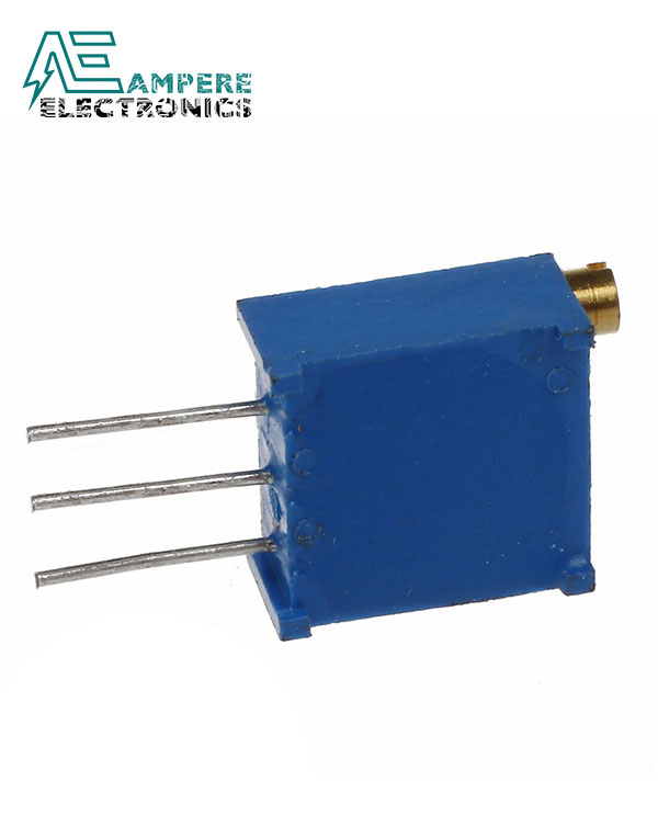POT 1 Kohm 1/2W Vertical Square Cermet Potentiometer