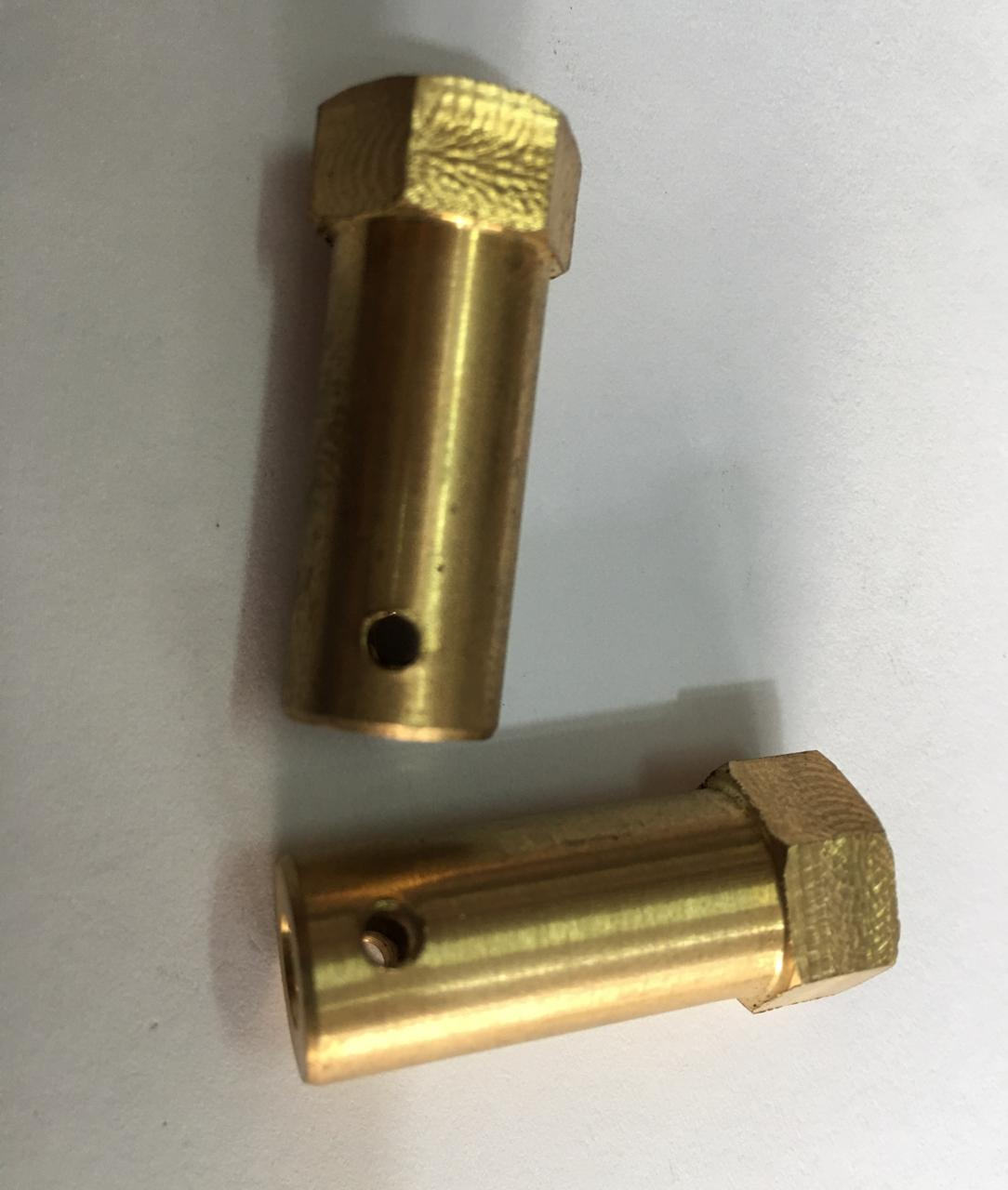 4mm Brass Hex Coupling For 85mm Wheel