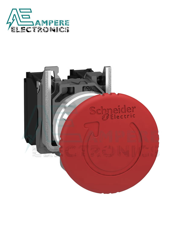 XB4BS8442 Red Emergency stop, Metal, Trigger Latching Turn to Release, 1 NC, Schneider Electric