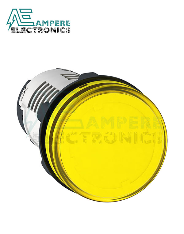 XB7EV05MP – Yellow LED Indicator Light, 230 Vac, Schneider Electric