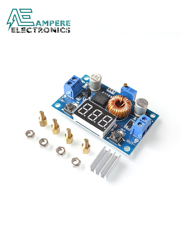 XL4015 5A DC-DC Step Down Adjustable Supply Buck Module with Voltmeter