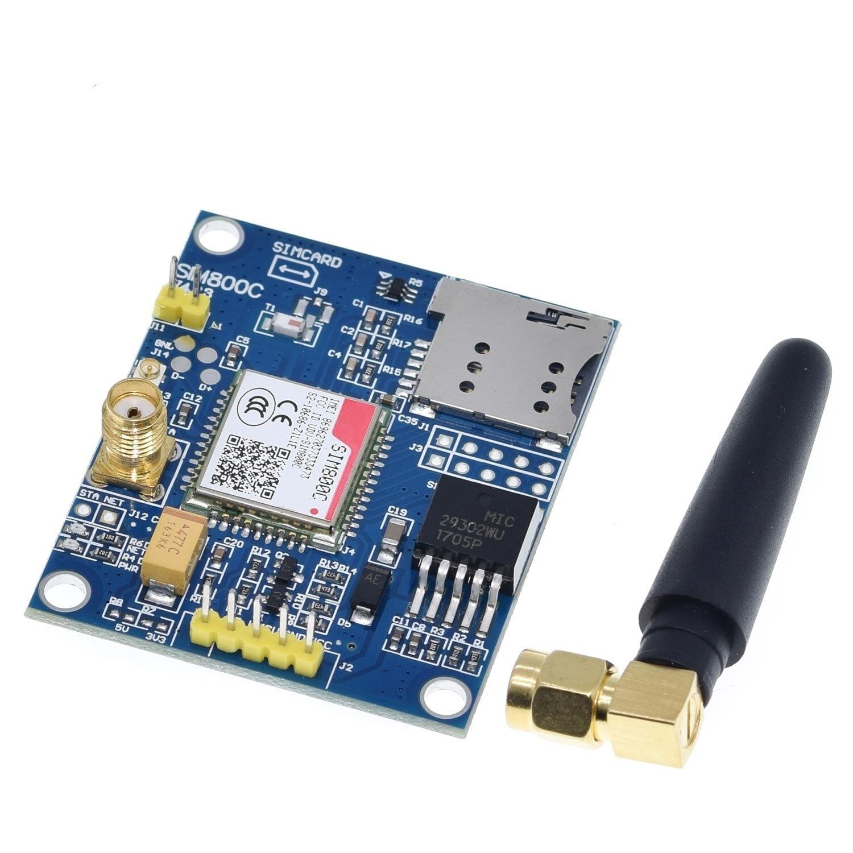 SIM800C module SMS data Bluetooth version (module with glue stick antenna )