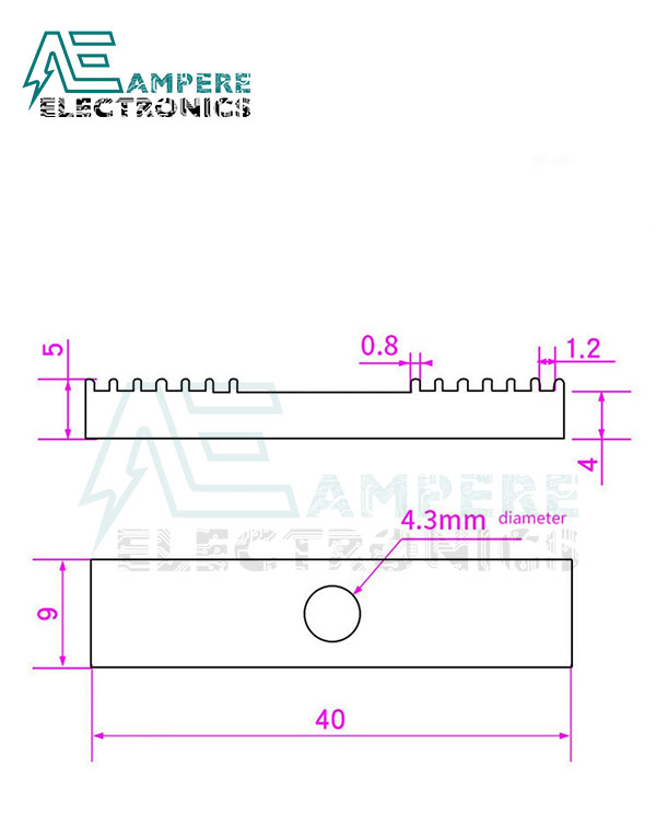 GT2 Aluminum Timing Belt Clamp