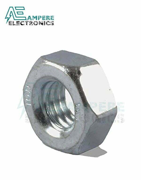 M5 Galvanized Steel Hex Nut – Pack Of 10