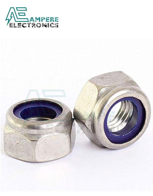 M5 Nylon Insert Hex Lock Nut - Pack Of 10