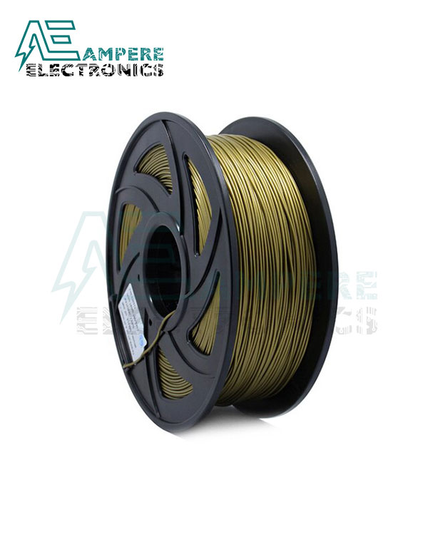 Yellow Brass Color PLA Filament 1.75mm – 1kg/Roll