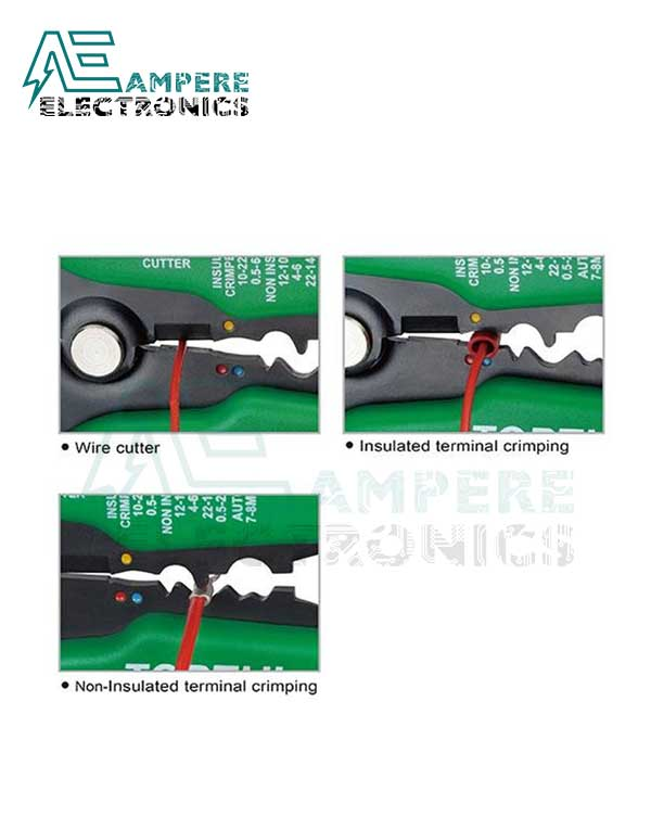 DKAA2226 Wire Stripper Heavy Duty Self-Adjusting - TOPTUL