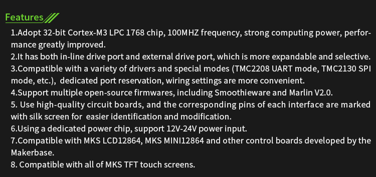 MKS SGEN_L V1.0 Control Board 32-bit For 3D Printer and CNC