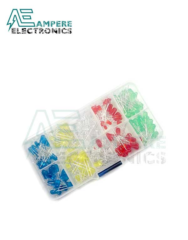 125Pcs Mixed Color 3mm LED Pack With Free Storage Box