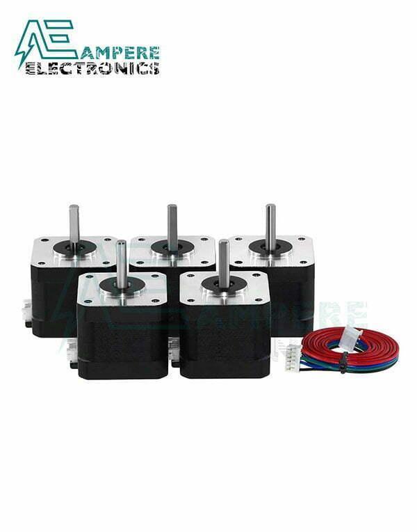 5Pcs 17HS8401S Nema17 Stepper Motor - 48mm With Cables
