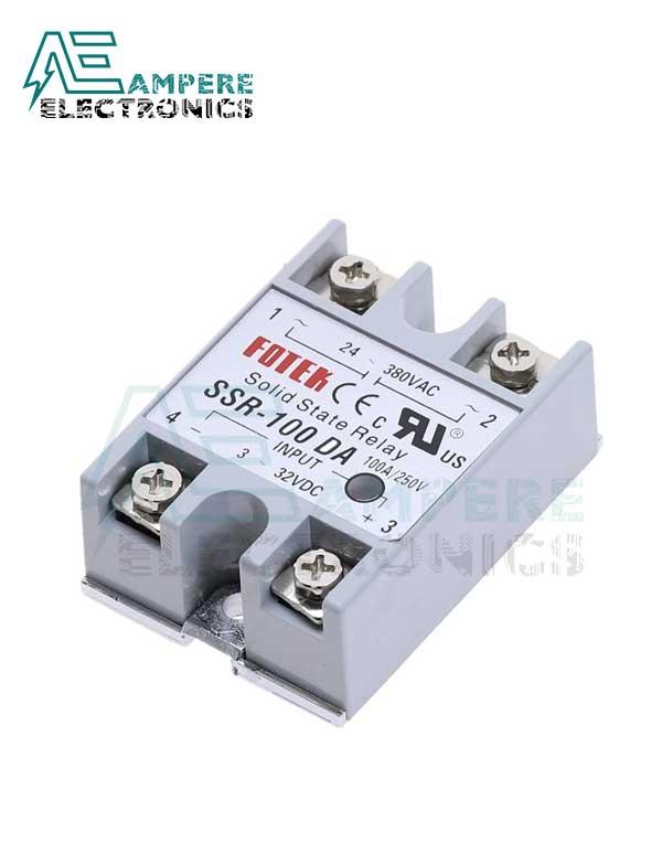 Solid State Relay SSR-100DA (3-32Vdc / 24-480VAc)